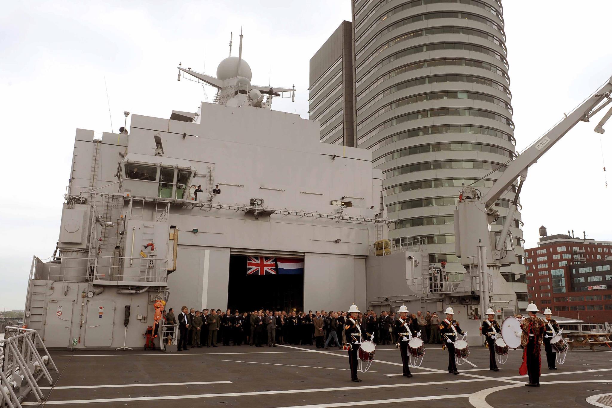 HMS Bulwark in Rotterdam, Netherlands