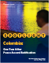 Colombia: One Year After Peace Accord Ratification