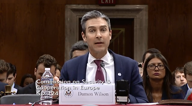 """Wilson Testifies Before the US Helsinki Commission on """"Russia's Occupation of Georgia and the Erosion of the International Order"""""""