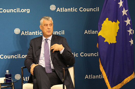 Kosovo's president pushes for peace deal with Serbia