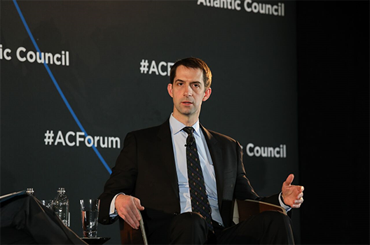 US Sen. Tom Cotton's pitch for US global leadership: 'We don't want to play home games'
