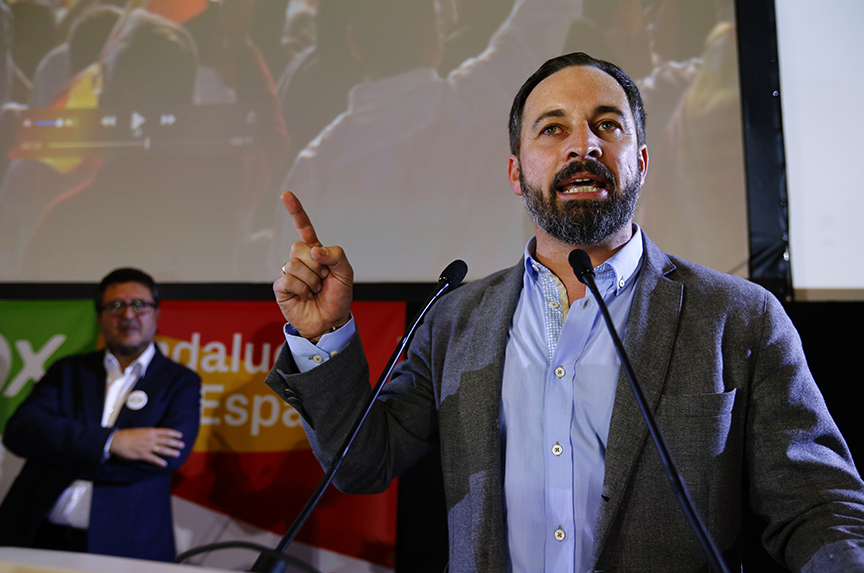 Right-Wing party gains ground in Spain