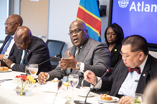 Congolese president discusses strategic partnership with the United States