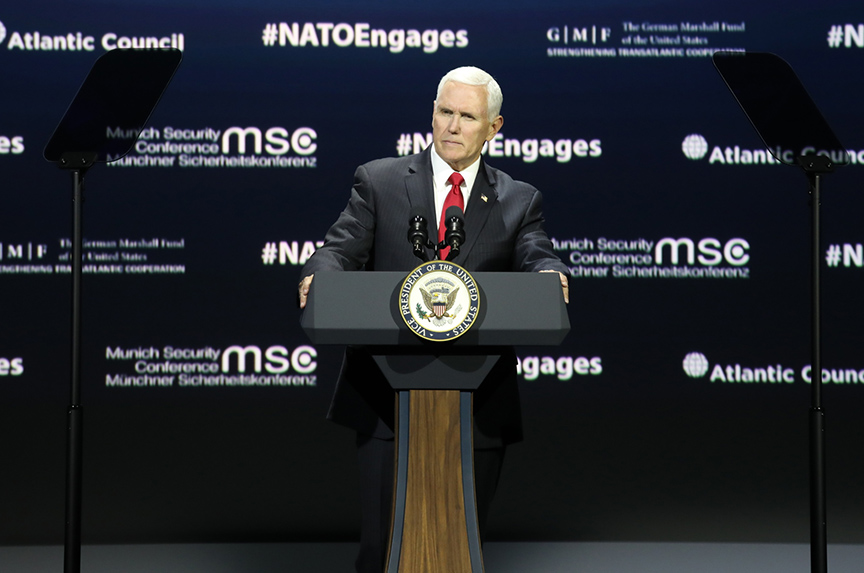 Pence takes Germany to task over defense spending