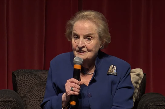 Former US Secretary of State Madeleine Albright: The United States needs alliances to confront challenges