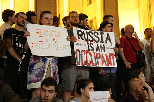 Georgia protests are not a showcase of Russophobia