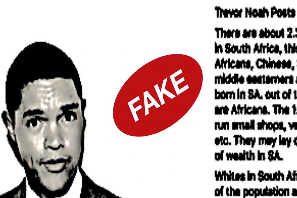 Fake Trevor Noah quote spreads internationally