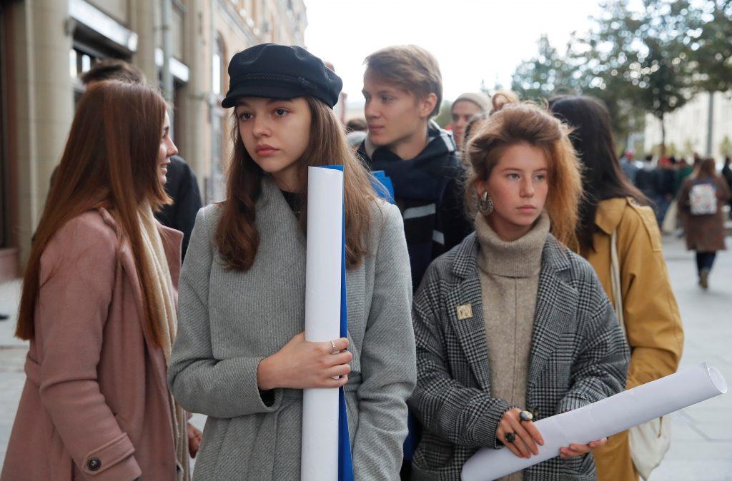 Молодежь на московских протестах