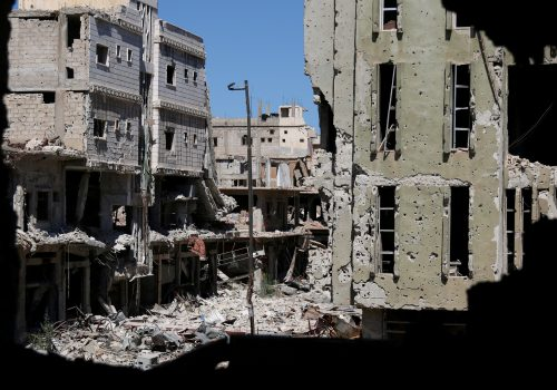 The complete destruction in Syria