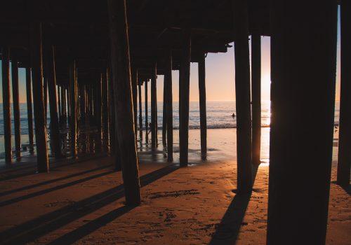gtc pillars at the beach on the ocean principles