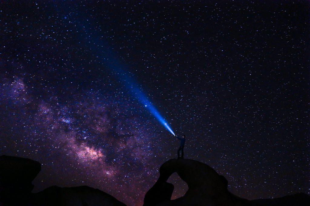 gtc looking at the stars milky way at night