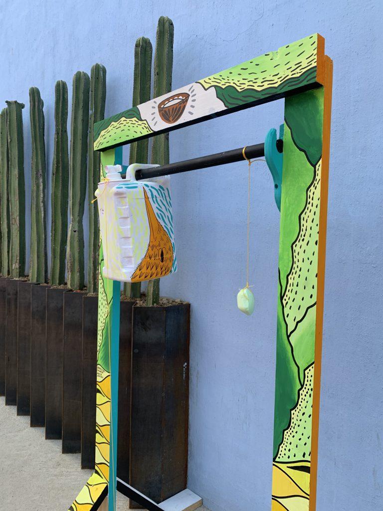 painted handwashing station